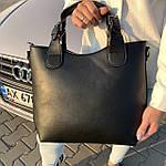 Женская сумка c косметичкой замш черная  (1080), фото 5