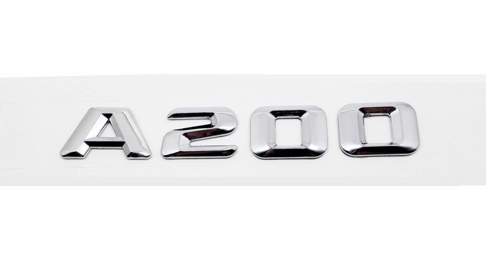 Хромированная Эмблема Шильдик надпись A200 Мерседес Mercedes