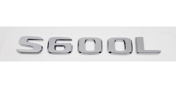 Хромированная Эмблема Шильдик надпись S600L Мерседес Mercedes