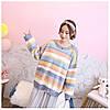 Теплый свитер женский в полоску 44-50 (в расцветках), фото 7