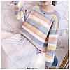 Теплый свитер женский в полоску 44-50 (в расцветках), фото 3