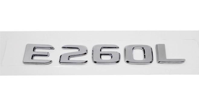 Хромированная Эмблема Шильдик надпись E260L Мерседес Mercedes