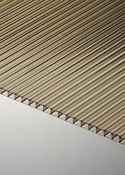 Поликарбонат сотовый Polygal СТАНДАРТ 4 мм, бронза, 2100х6000