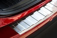 Накладка на задний бампер Mazda CX-5 2012- 2017, полированная сталь 35711