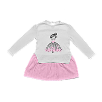 Платье Dexters Девочка 110 см Бело-розовый d97813, КОД: 1058966