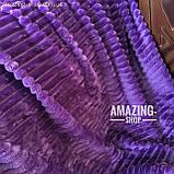 Покрывало-плед велюровое полоска, шарпей. Размер - Евро. Цвет - Темно-светло фиолетовый, фото 8