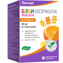 Бэби Формула мишки Витамин С, Эвалар, 60 шт.