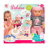 Пупс кукла 36см по типу Беби берн baby born саксессуарами, стульчик для кормления пупса, пьет - писяет, 8385