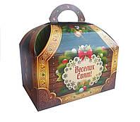 Упаковка для цукерок на Новий рік і Миколая Зелена скриня