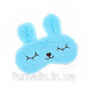 Маска для сна с гелевым вкладышем, голубая
