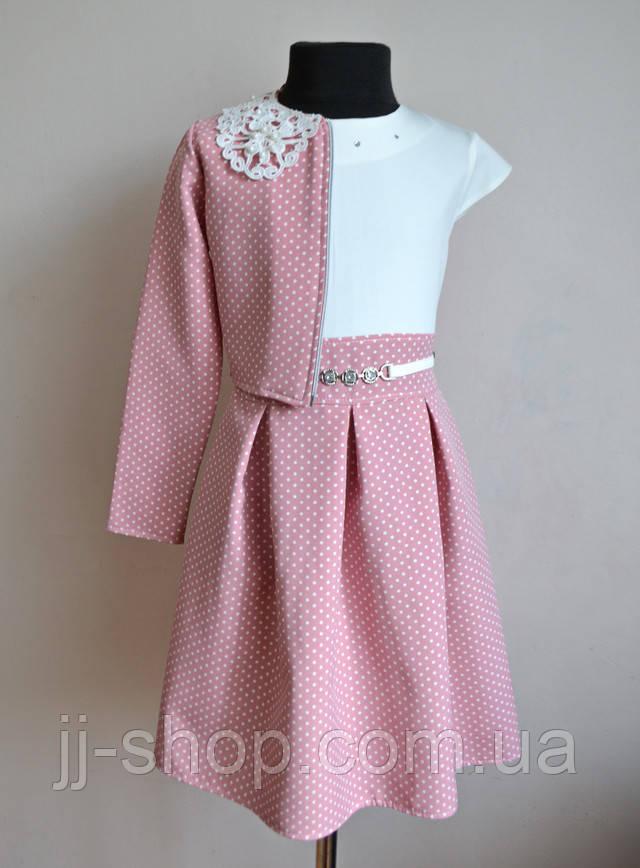Детское платье для девочек в горошек