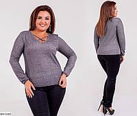 Трикотажная блуза размеры 50-64 арт 8289