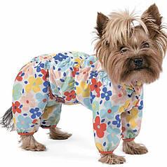 """Дождевик Pet Fashion """"Бонни""""  цветы"""