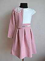 Нарядное детское платье с болеро для девочек 5-9лет, фото 1