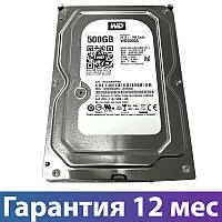"Жесткий диск 3.5"" 500 Гб/Gb WD, SATA3, 32Mb, 7200 rpm (WD5000AZLX),  для компьютера"