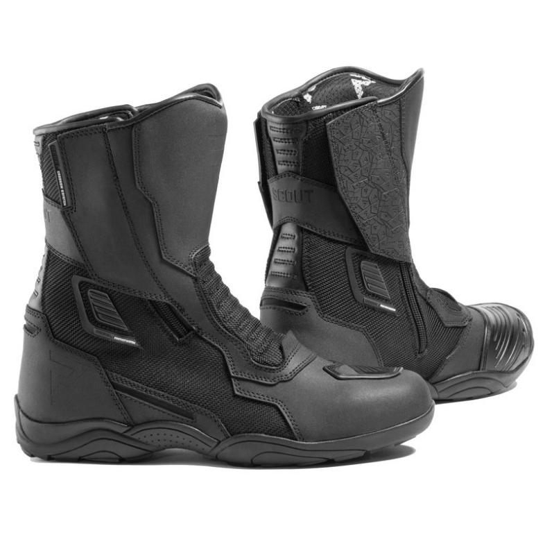 Мотоботы кожаные Rebelhorn Scout Air Black