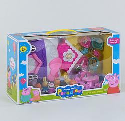 Домик мультгероев YM 8091 8 фигурок, аксессуары, в коробке Свинка Пеппа Peppa Pig