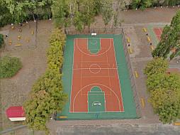 Двухслойное покрытие для спортивной площадки г. Миргород 46