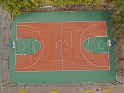 Двухслойное покрытие для спортивной площадки г. Миргород 47