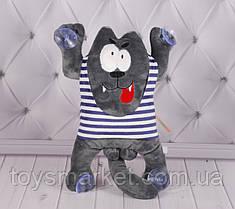Мягкая игрушка Волк, плюшевая игрушка на присосках