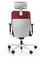 Кресло офисное компьютерное на колесиках с подголовником DUAL 103 white (Польша, Bejot)