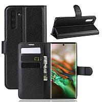 Чехол Luxury для Samsung Galaxy Note 10 (N970) книжка черный