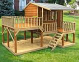 Развлекательный игровой домик из дерева для детей Country Cottage Cubby House, фото 2