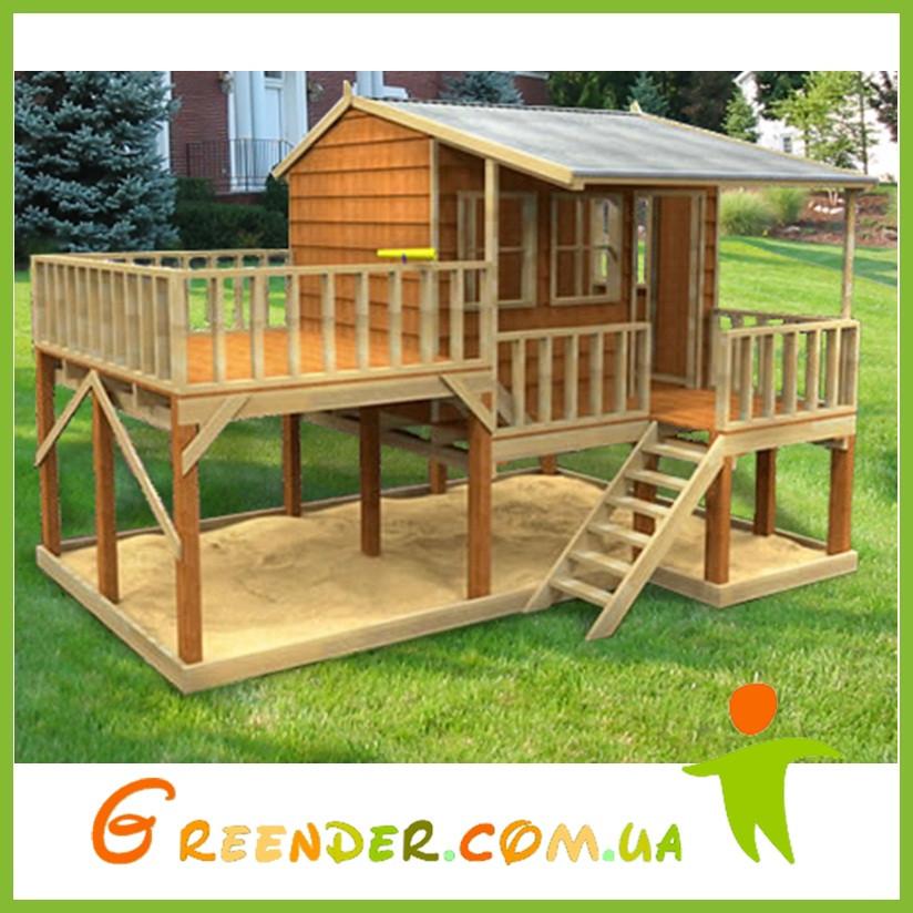 Развлекательный игровой домик из дерева для детей Country Cottage Cubby House