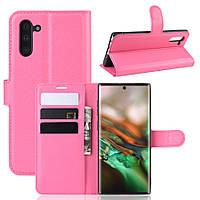 Чехол Luxury для Samsung Galaxy Note 10 (N970) книжка розовый