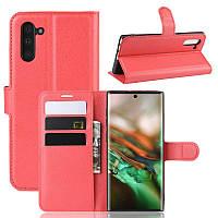 Чехол Luxury для Samsung Galaxy Note 10 (N970) книжка красный