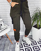 Женские  штаны Карго на резинке