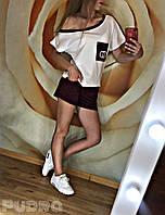 Летний женский спортивный костюм с шортами, фото 1