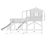 Деревянный уличный домик с терассой для детей Firefox Playground Cubby House, фото 4