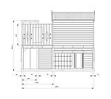 Деревянный уличный домик с терассой для детей Firefox Playground Cubby House, фото 5
