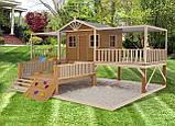 Деревянный уличный домик с терассой для детей Firefox Playground Cubby House, фото 2