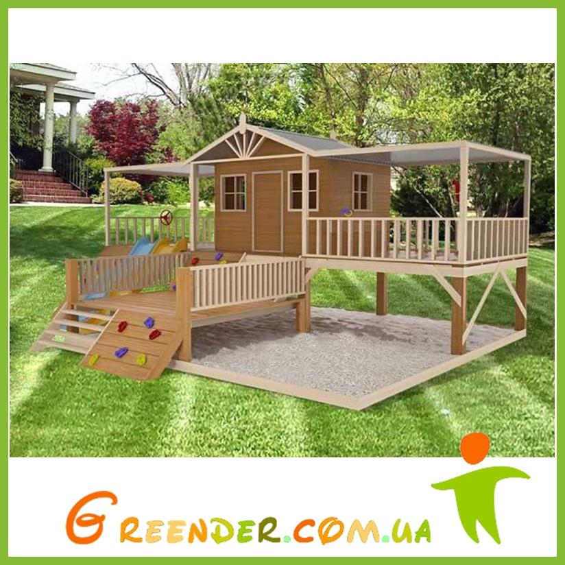 Деревянный уличный домик с терассой для детей Firefox Playground Cubby House