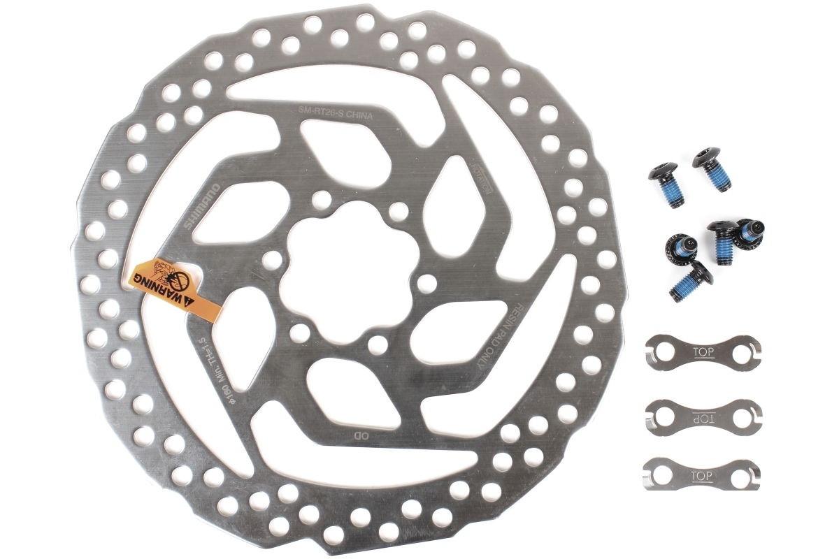 Ротор Shimano SM-RT26-S монтаж 6-болт, 160мм / тормозой диск / супорт