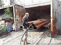 Пескоструйная обработка, пескоструй трубы, внутренняя очистка труб, фото 1