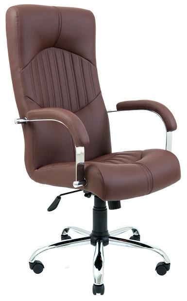Кресло Гермес хром 1 кат коричневое