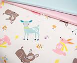 """Сатин ткань """"Бемби и розовые зайцы"""" на молочном № 2455с, фото 4"""