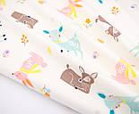 """Сатин ткань """"Бемби и розовые зайцы"""" на молочном № 2455с, фото 3"""