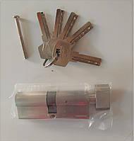 """Цилиндр (серцевина) дверного замка Cometa 80 мм (40*40) """"ключ-тумблер"""" 5 лазерных ключей"""