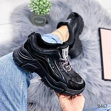 """Кроссовки женские """"Carle"""" черного цвета из эко кожи. Кеды женские. Мокасины женские. Обувь женская, фото 2"""