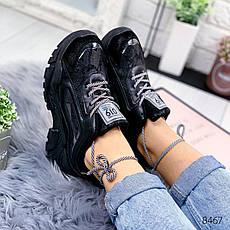 """Кроссовки женские """"Carle"""" черного цвета из эко кожи. Кеды женские. Мокасины женские. Обувь женская, фото 3"""