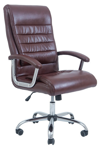 Кресло Принстон хром 2 кат коричневое