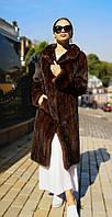 Шуба норковая с английским воротом. Модель Халат 200201957, фото 1