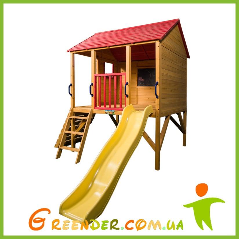 Спортивно игровая детская площадка на улицу с горкой Oscar Cubby House - Yellow