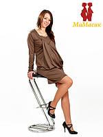 Платье с кармашками 2в1: беременность, кормление, коричневый