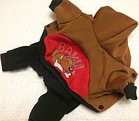 Комбінезон Baku М-L коричневий фліс для собак