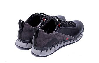 Мужские кожаные кроссовки в стиле FILA Tech Flex Black черные, фото 2